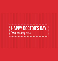 Happy doctor day design style collection vector