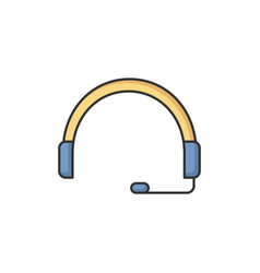Headset rgb color icon vector
