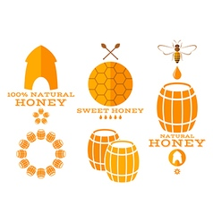 Honey Isolated labels and icons vector
