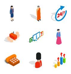 Human capacity icons set isometric style vector