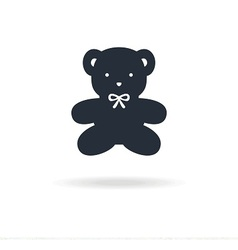 icon bear toy vector image