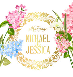 marriage invitation card with custom sign and vector image