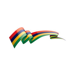 Mauritius flag on a white vector