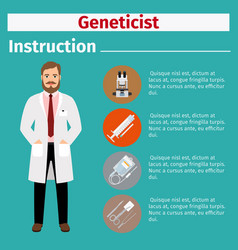 Medical equipment instruction for geneticist vector