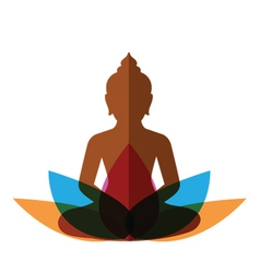 meditation budha post vector image
