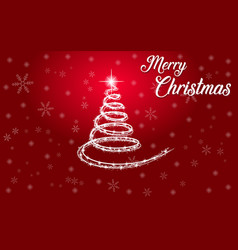 merry christmas poster happy new year vector image