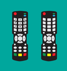 Modern remote control with arrow button and vector