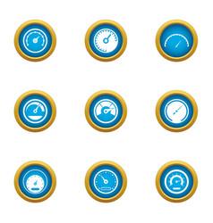 Momentum icons set flat style vector