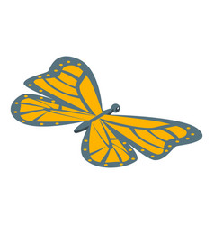 Monarch butterfly icon isometric style vector
