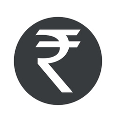 Monochrome round rupee icon vector