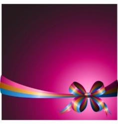 Multicolored ribbon vector