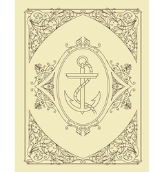 Old card Organized by layers vector image