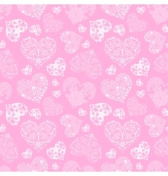 Openwork seamless pattern of hearts vector image