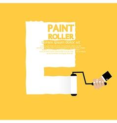 Paint Roller Alphabet E vector image