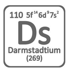 periodic table element darmstadtium icon vector image