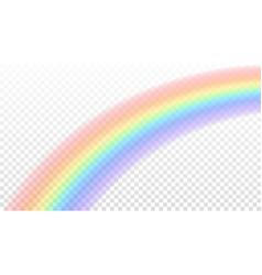 Rainbow icon shape arch realistic isolated vector