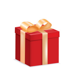 red gift box with a bow vector image