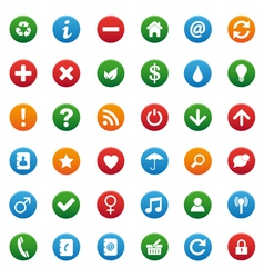 round icons vector image