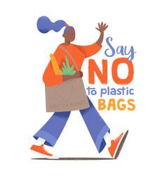 Say no plastic bags vector
