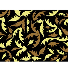 seamless black texture with leaves vector image
