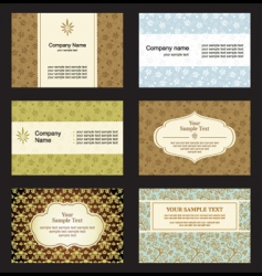 Set business card vector