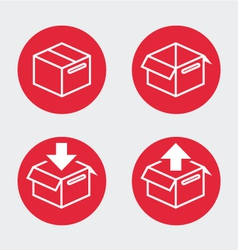 Shipping boxes vector image