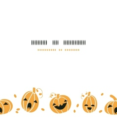 Smiling Halloween pumpkins horizontal border vector