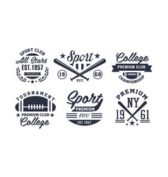 sport premium club logo design set vintage vector image