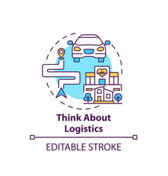 Think about logistics concept icon vector