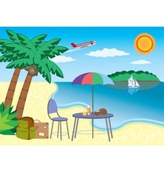 Vacation at the seashore vector