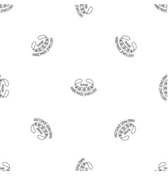 vintage hand made jewellery pattern seamless vector image