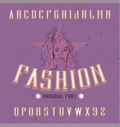 vintage label font named fashion vector image