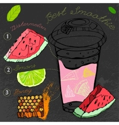 Watermelon Lemon Smoothie vector