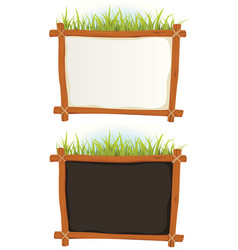 Wood frame with sign vector