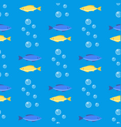 beautiful seamless pattern with colorful sea vector image
