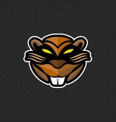 beaver logo design template beaver head icon vector image