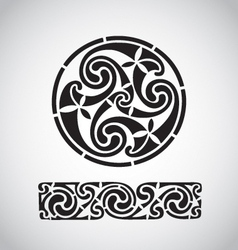 circular celtic design vector image