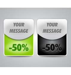 discount boxes for web design vector image vector image