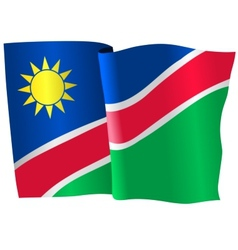 flag of Namibia vector image