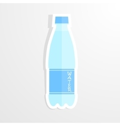 Realistic paper sticker water bottle Isolated vector image vector image