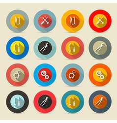 Retro Tools Buttons - Icons Set vector image