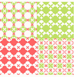 set of seamless pattern moroccan style vector image vector image
