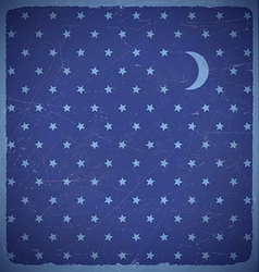 Square card with polka dot stars vector image vector image