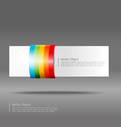abstract rainbow stripe banner vector image vector image