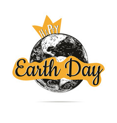 happy earth day poster vector image