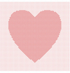 heart shaped background design from red circles - vector image vector image