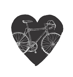 Vintage Bicycle in Heart vector image vector image