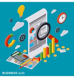 Business audit financial analytics statistics vector image vector image