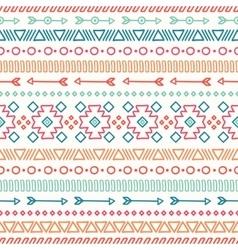 Hand drawn geometric ethnic seamless pattern vector image vector image