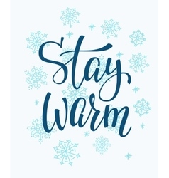 Winter cold Stay warm typography quote vector image vector image